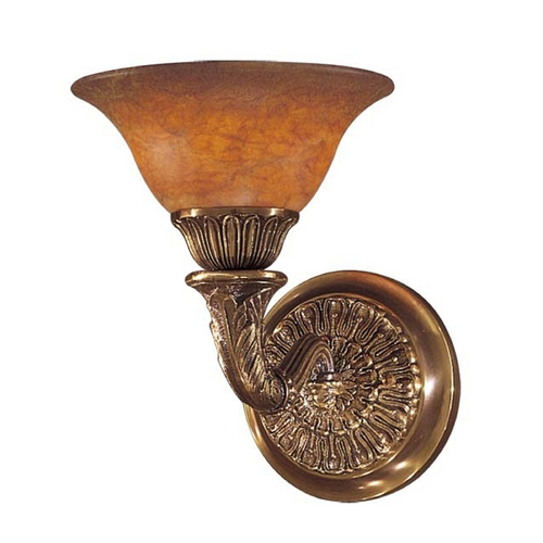 Metropolitan Lighting Sconce Wall Light with Alabaster Glass in Antique Bronze Finish N202501-AN