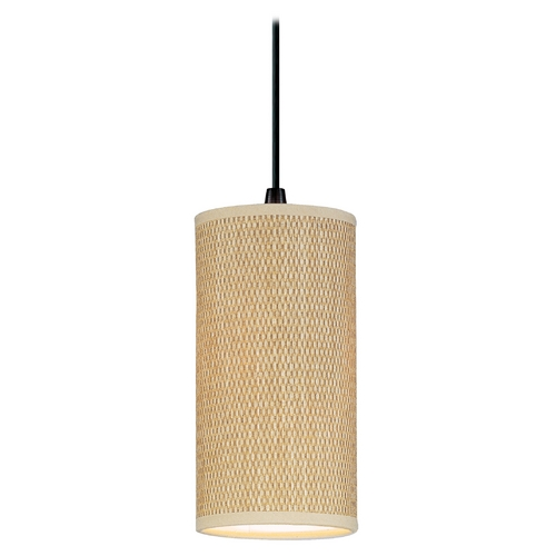 ET2 Lighting Modern Mini-Pendant Light with Brown Shade E95020-101OI