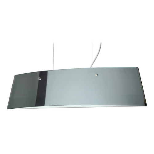 Besa Lighting Modern Island Light with White Glass in Satin Nickel Finish LS3-4454MR-SN