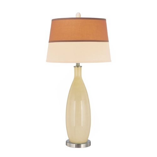 Lite Source Lighting Modern Table Lamp in Polished Steel / Ivory Finish LS-21500IVY