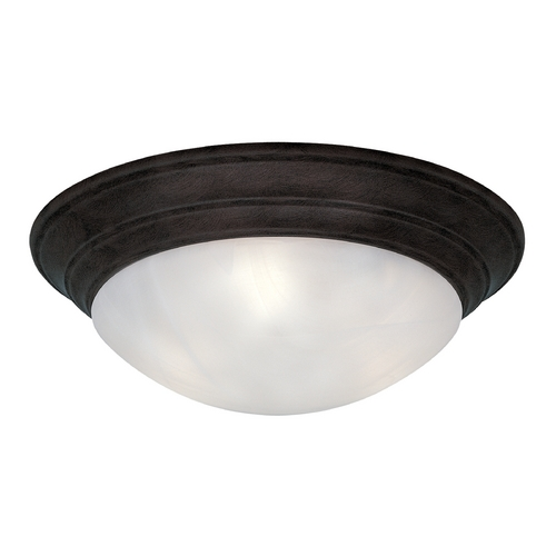 Designers Fountain Lighting Flushmount Light with Alabaster Glass in Oil Rubbed Bronze Finish 1245M-ORB