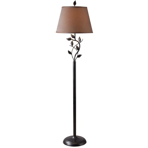 Kenroy Home Lighting Floor Lamp with Gold Shade in Oil Rubbed Bronze Finish 32240ORB