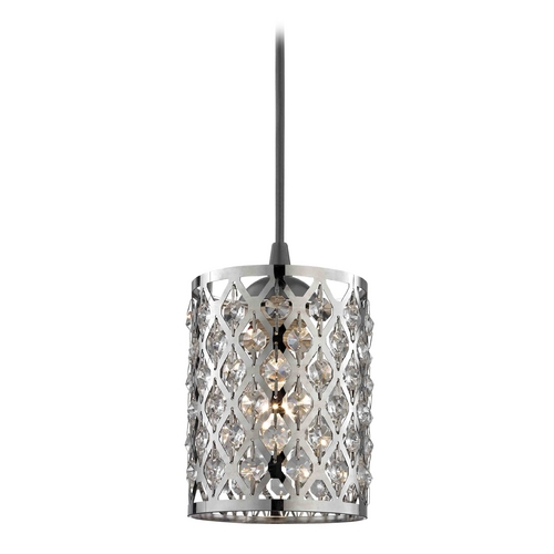 Design Classics Lighting Crystal Mini-Pendant Light 582-07 GL1046-26