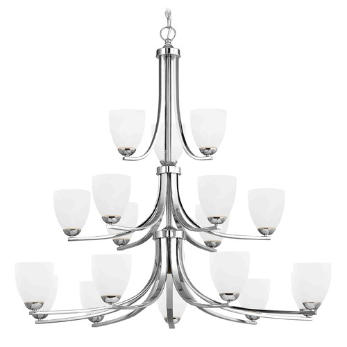 Design Classics Lighting Chrome Chandelier 5863-26 GL1028MB