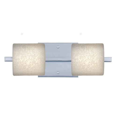 Besa Lighting Besa Lighting Paolo Chrome Bathroom Light 2WS-7873ST-CR