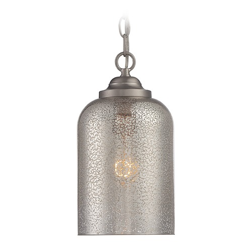 Savoy House Savoy House Lighting Bally Satin Nickel Mini-Pendant Light with Cylindrical Shade 7-701-1-SN