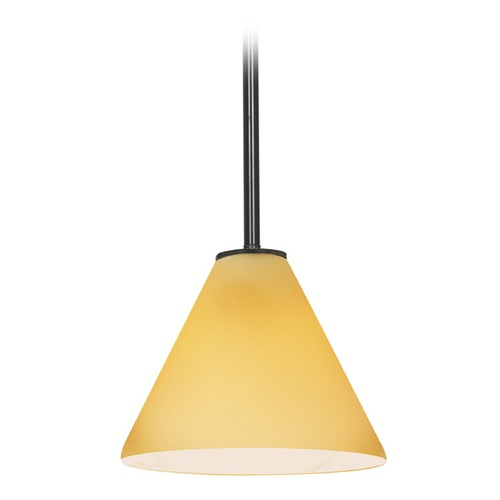 Access Lighting Access Lighting Martini Oil Rubbed Bronze LED Mini-Pendant Light with Conical Shade 28004-3R-ORB/AMB