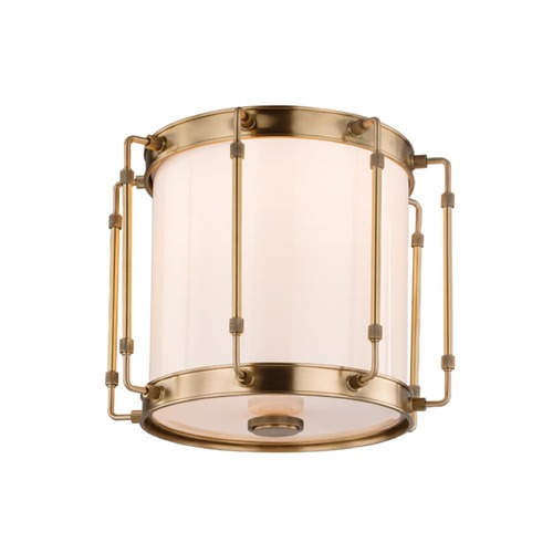 Hudson Valley Lighting Hudson Valley Lighting Hyde Park Aged Brass LED Flushmount Light 9713-AGB
