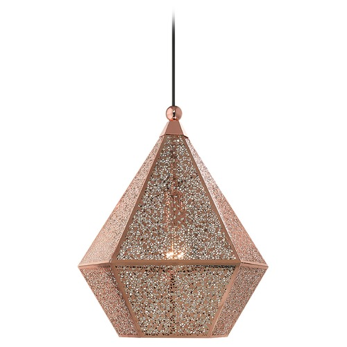 Livex Lighting Livex Lighting Pendant Light in Rose Gold 48923-86