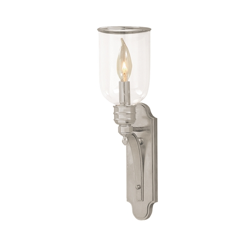 Hudson Valley Lighting Sconce Wall Light with White Shade in Satin Nickel Finish 2131-SN