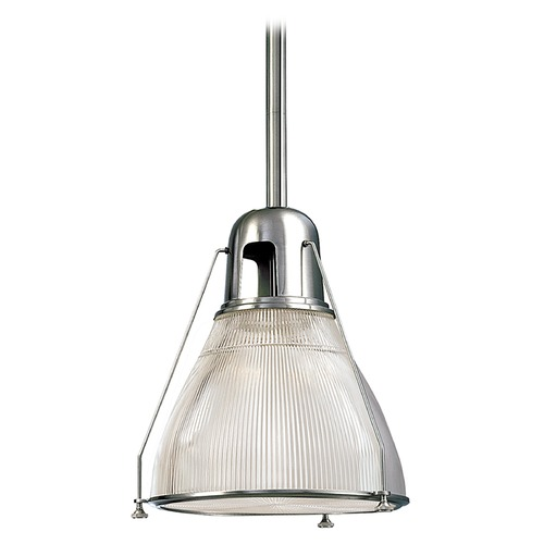 Hudson Valley Lighting Prismatic Glass Mini-Pendant Light Polished Nickel Hudson Valley Lighting 7308-PN