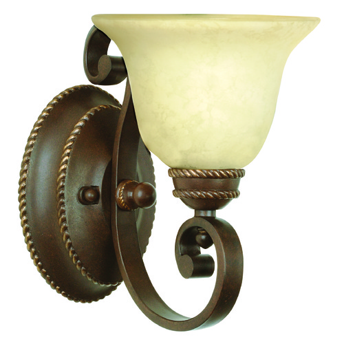Jeremiah Lighting Jeremiah Riata Aged Bronze Textured Sconce 8107AG1