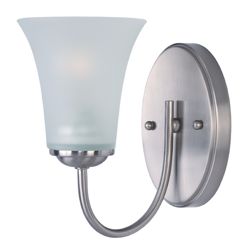 Maxim Lighting Maxim Lighting Logan Satin Nickel Sconce 10051FTSN