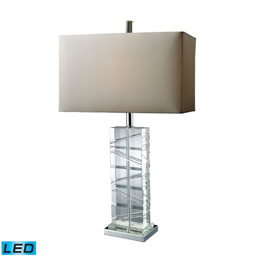 Dimond Lighting Dimond Lighting Chrome, Crystal LED Table Lamp with Rectangle Shade D1813-LED