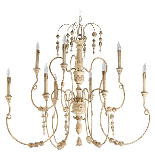 Quorum Lighting Quorum Lighting Salento Persian White Chandelier 6206-9-70