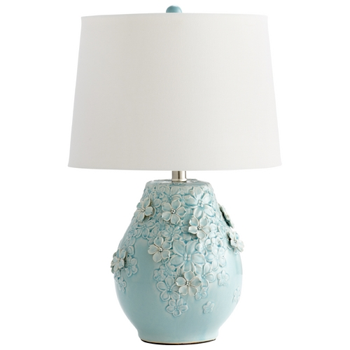 Cyan Design Cyan Design Eire Sky Blue Glaze Table Lamp with Drum Shade 05299