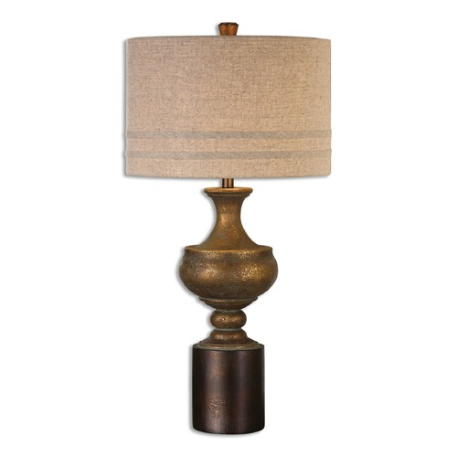 Uttermost Lighting Uttermost Giuliano Antiqued Gold Table Lamp 26939-1