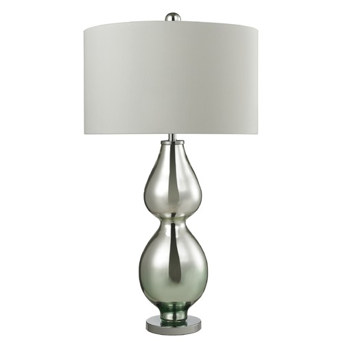 Dimond Lighting Dimond Lighting Silver Mercury, Green Accent Table Lamp with Drum Shade D2560