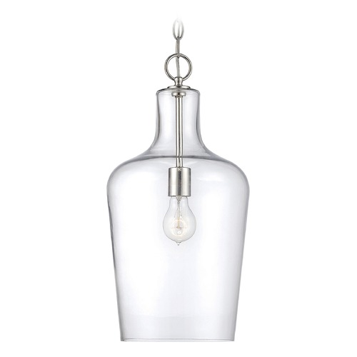 Savoy House Savoy House Lighting Franklin Polished Nickel Mini-Pendant Light with Bowl / Dome Shade 7-702-1-109