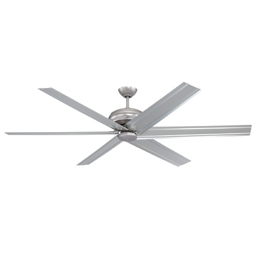 Craftmade Lighting Craftmade Lighting Colossus Brushed Pewter Ceiling Fan Without Light COL96BP6