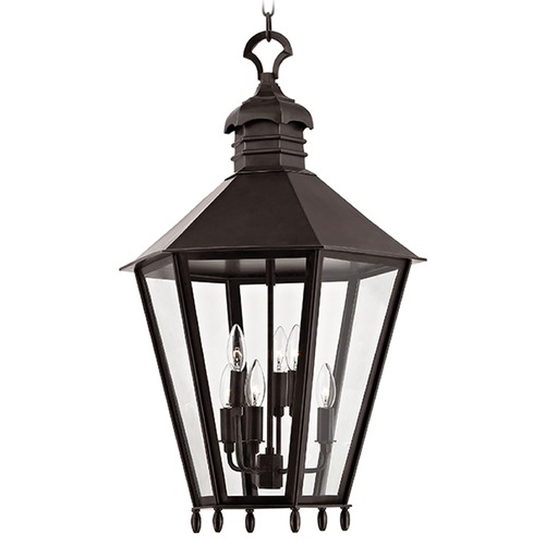 Hudson Valley Lighting Barstow 6 Light Pendant Light Hexagon Shade - Old Bronze 8819-OB
