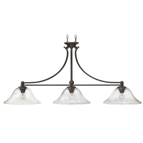 Hinkley Lighting Hinkley Lighting Bolla Olde Bronze Island Light with Bowl / Dome Shade 4666OB-CL