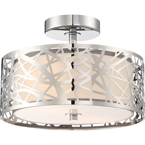 Quoizel Lighting Quoizel Lighting Platinum Abode Polished Chrome Semi-Flushmount Light PCAE1712C