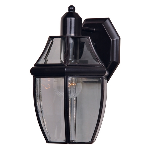 Maxim Lighting Outdoor Wall Light with Clear Glass in Burnished Finish 4010CLBU
