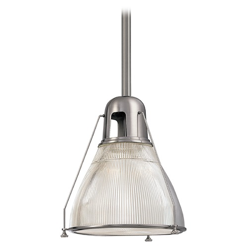 Hudson Valley Lighting Prismatic Glass Mini-Pendant Light Satin Nickel Hudson Valley Lighting 7308-SN