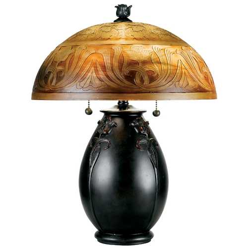 Quoizel Lighting Etched Glass Table Lamp QJ6781TR