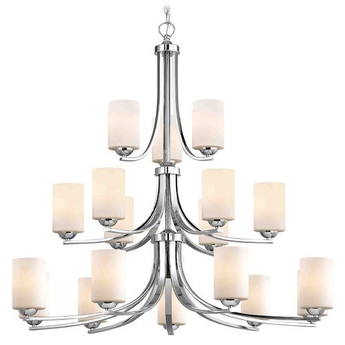 Design Classics Lighting Chrome Chandelier 5863-26 GL1024C