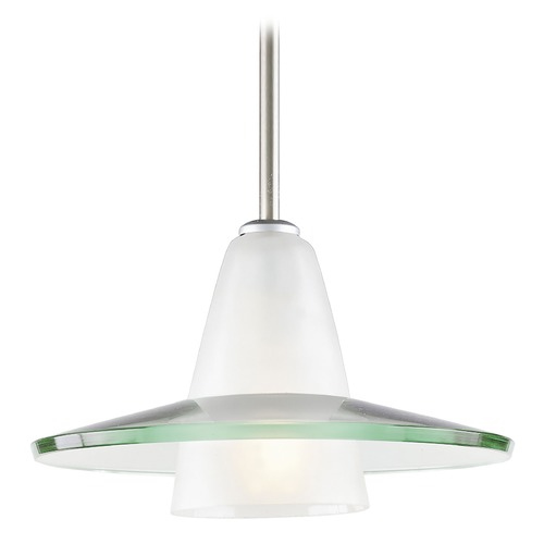 Progress Lighting Progress Pendant Light with Saucer Glass Shade P5011-09