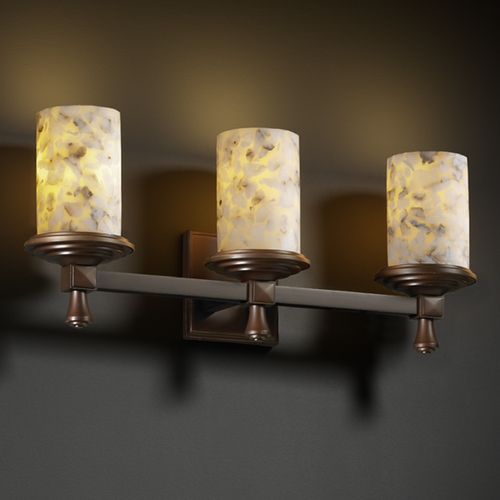 Justice Design Group Justice Design Group Alabaster Rocks! Collection Bathroom Light ALR-8533-10-DBRZ