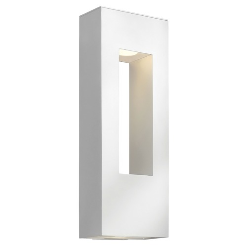 Hinkley Lighting Modern Outdoor Wall Light with Etched in Satin White Finish 1649SW