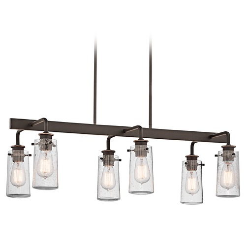Kichler Lighting Kichler Island Light with Clear Glass in Olde Bronze Finish 43059OZ