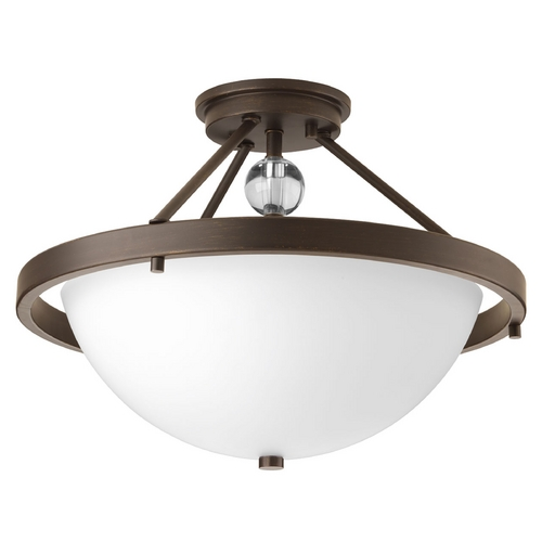 Progress Lighting Contemporary / Modern Semi-Flushmount Light Bronze Compass by Progress Lighting P3614-20