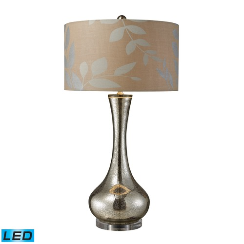 Dimond Lighting Dimond Lighting Mercury Blown Glass LED Table Lamp with Drum Shade D1883-LED