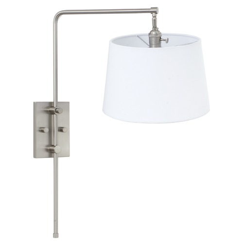 House of Troy Lighting House of Troy Crown Point Satin Nickel Swing Arm Lamp CR725-SN