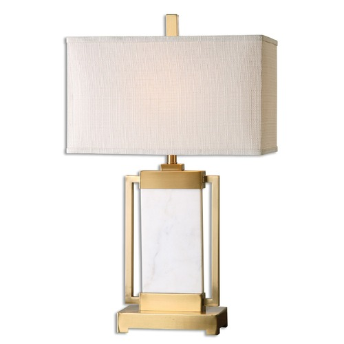 Uttermost Lighting Uttermost Marnett White Marble Table Lamp 26940-1