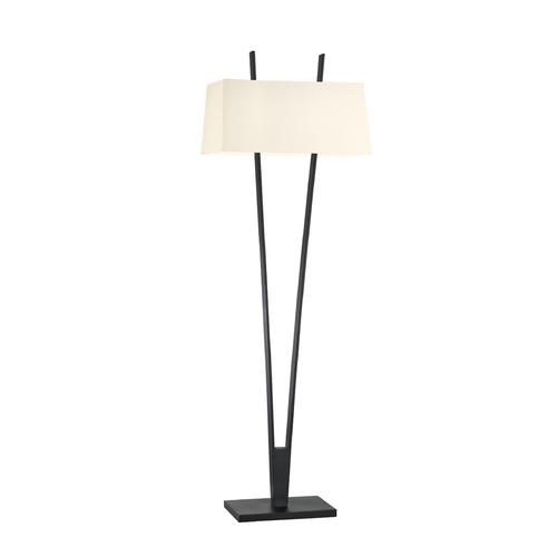 Sonneman Lighting Sonneman V Satin Black 2 Light Floor Lamps   4672.25