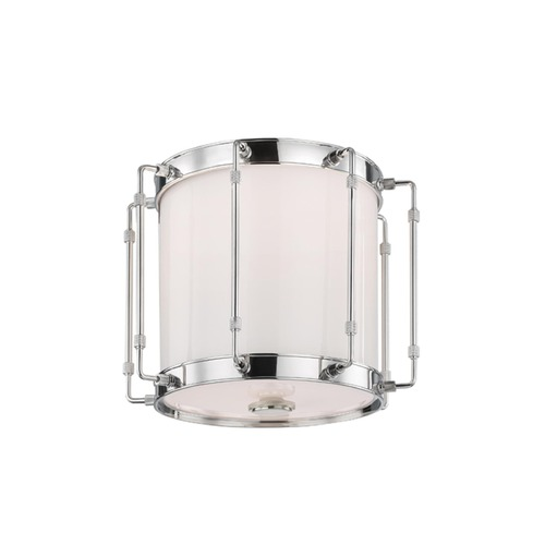 Hudson Valley Lighting Hudson Valley Lighting Hyde Park Polished Nickel LED Flushmount Light 9713-PN