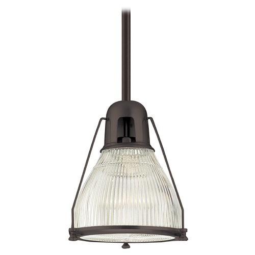 Hudson Valley Lighting Modern Pendant Light with Clear Glass in Old Bronze Finish 7311-OB