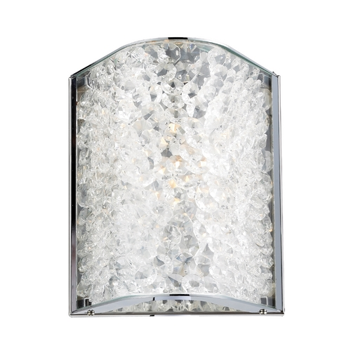 Elk Lighting Modern Sconce with Clear Glass in Polished Chrome Finish 31180/1