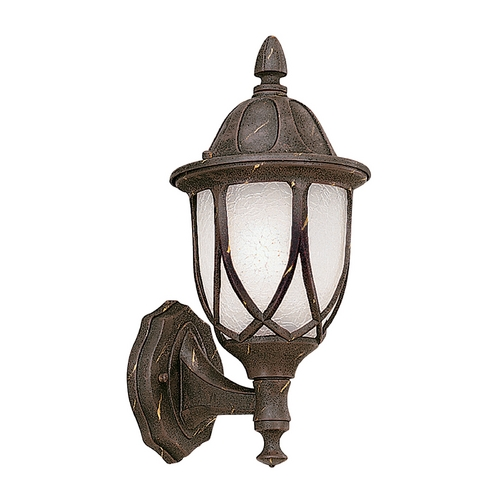 Designers Fountain Lighting Outdoor Wall Light with White Glass in Autumn Gold Finish 2867-AG