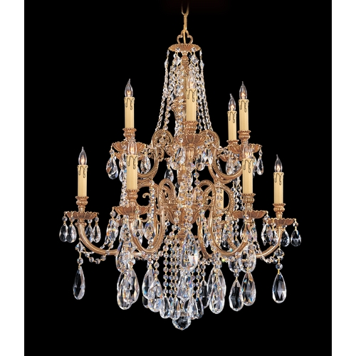 Crystorama Lighting Crystal Chandelier in Olde Brass Finish 2712-OB-CL-MWP