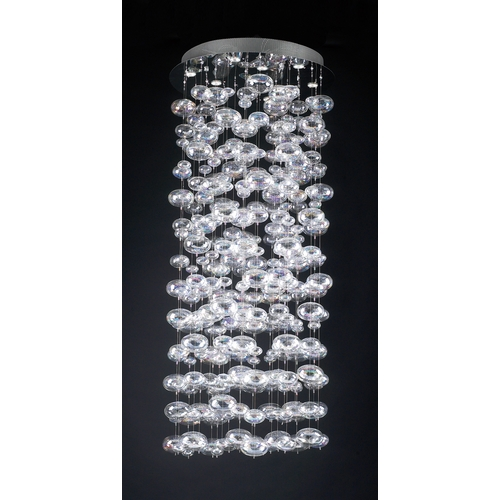 PLC Lighting Modern Pendant Light with Clear Glass in Polished Chrome Finish 96991 PC