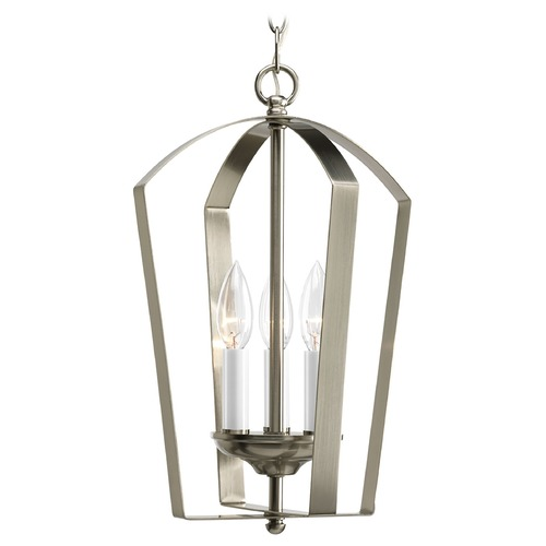 Progress Lighting Progress Square Lantern Chandelier Pendant Light with Three Lights P3928-09