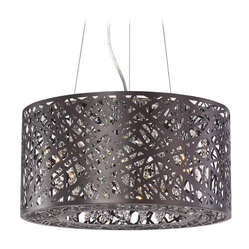ET2 Lighting Inca Bronze Pendant Light with Drum Shade E21309-10BZ