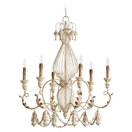 Quorum Lighting Quorum Lighting Salento Persian White Chandelier 6306-6-70