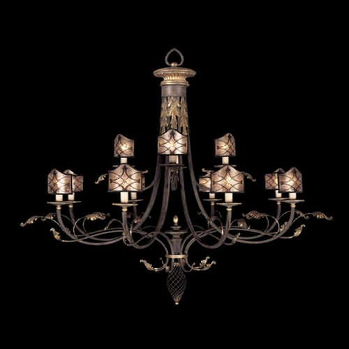 Fine Art Lamps Fine Art Lamps Villa 1919 Umber with Gilded Accents Chandelier 153540ST